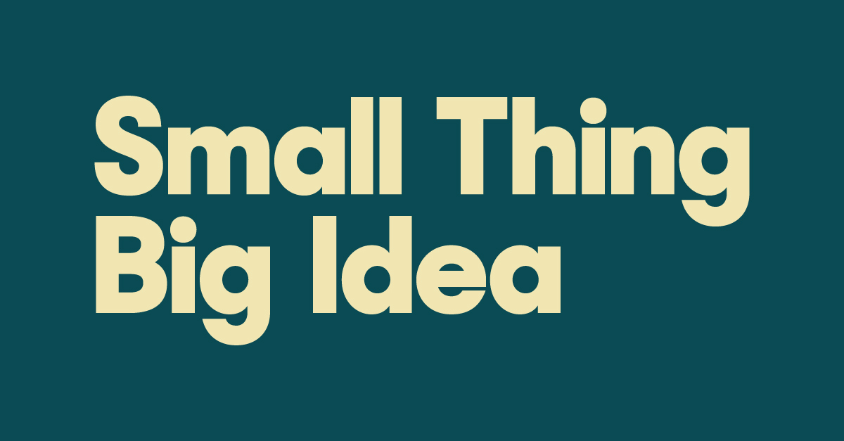 Small Thing Big Idea